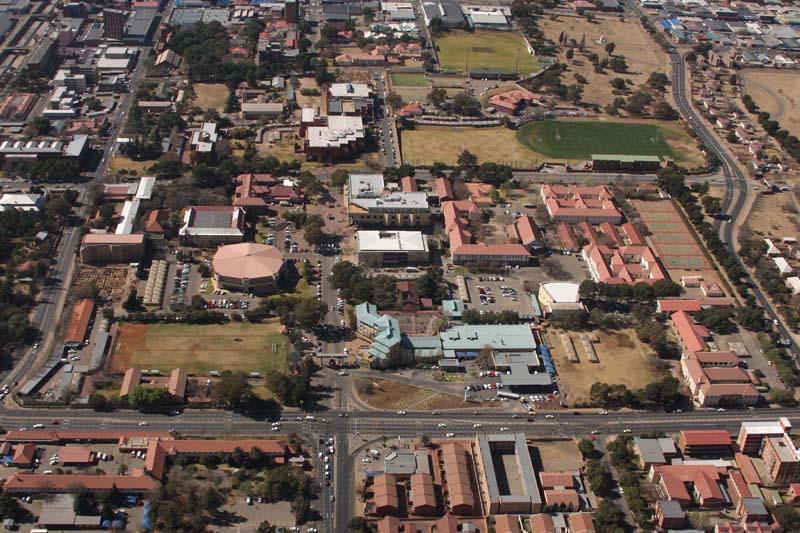 Arial view of Bloemfontein Campus.
