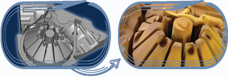 EOSINT S technology to manufacture sand cores and moulds using the direct Croning™ process.