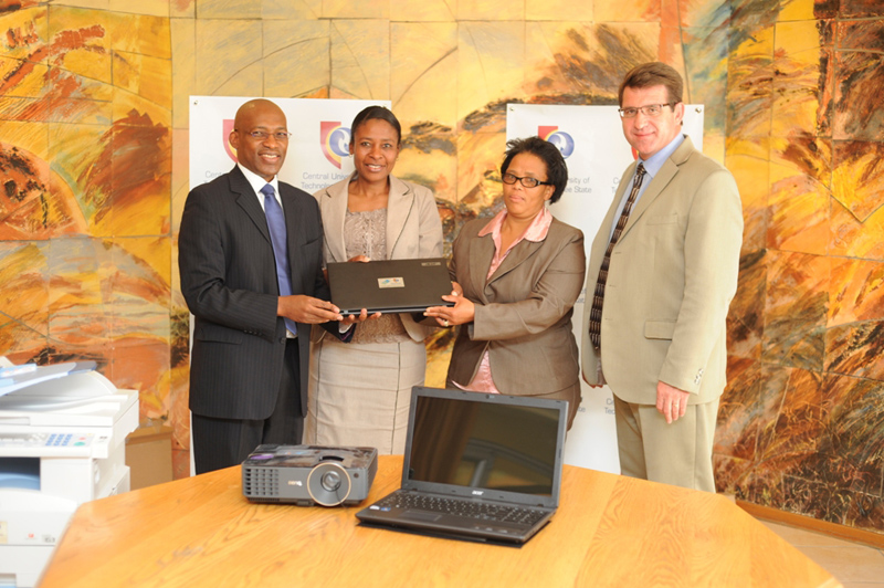 Handover of teaching material to participating schools in 2012.