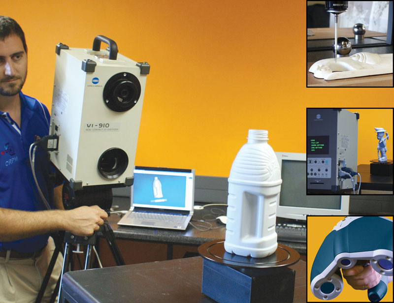 Marinus Potgieter is scanning a bottle for RE purposes.  The smaller captures in the image demonstrates additional RE devices.