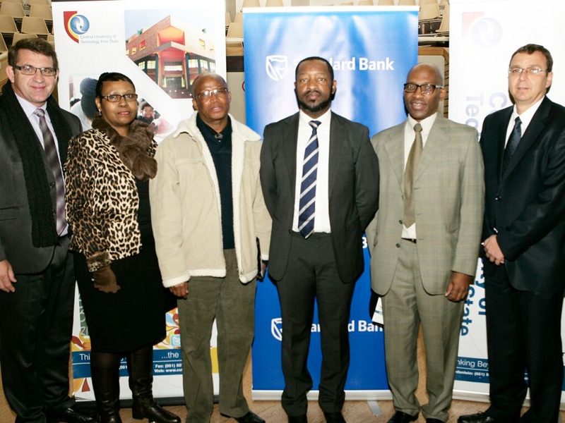 Senior officials of CUT, FSDoE and Standard Bank at the official opening of the 2015 Winter School.