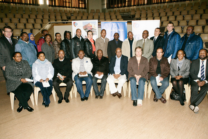 Tutors and senior officials of CUT, Standard Bank and FSDoE during the 2015 Winter School.