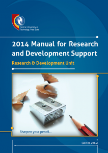 Research and Development Manual 2014