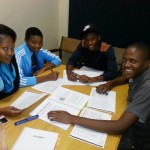 Students having a session on goal setting