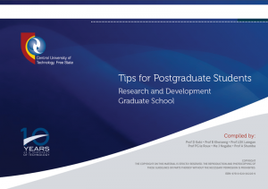 Tips for Postgraduate Students