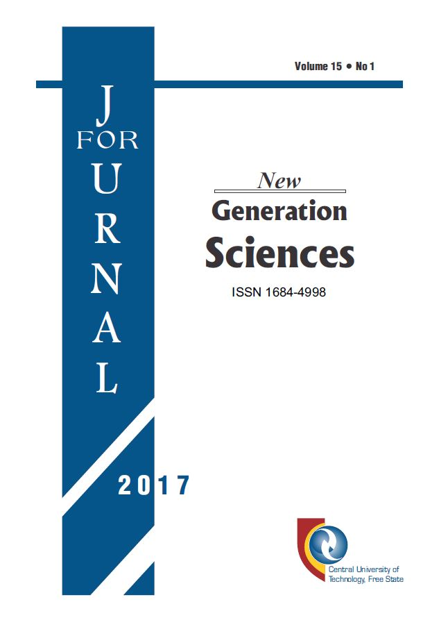 A DHET-accredited publication exclusively by CUT: Journal for New Generation Sciences (JNGS)