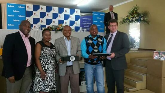 Equipment handover to phase two schools in 2014.