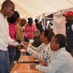 Bloemfontein campus poling station.