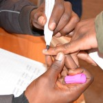 Students were also nail inked as proof that they have voted